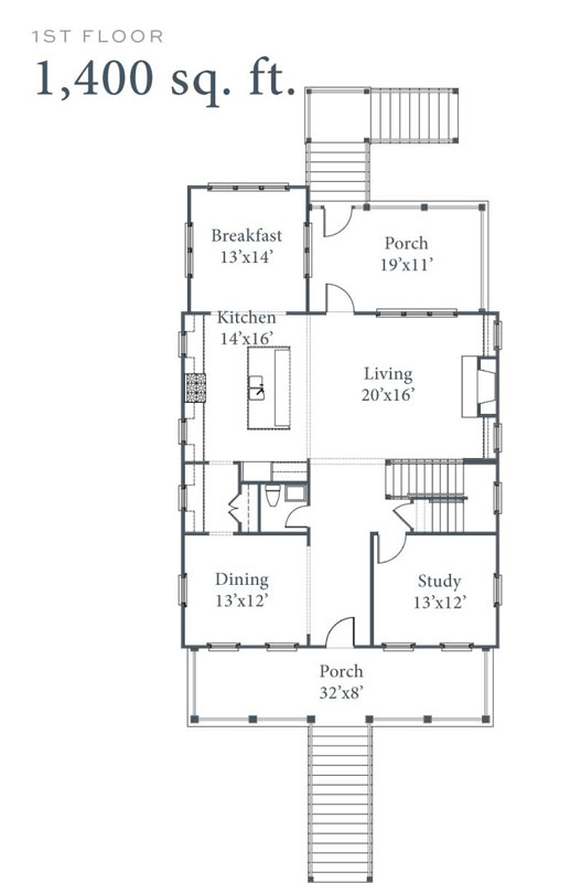 Old Landing Plan 1st Floor