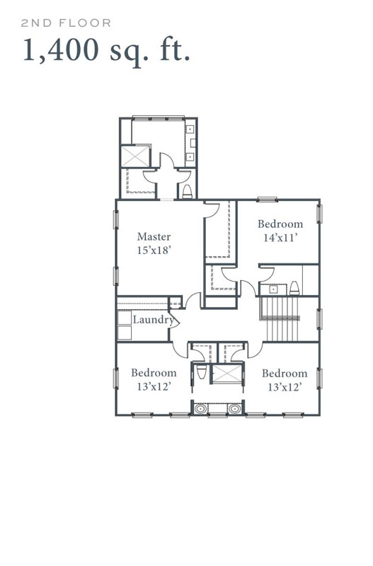 Old Landing Plan 2nd Floor